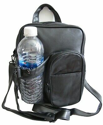 5 POCKET LAMBSKIN LEATHER  FANNY PACK WITH NETTED WATER BOTTLE HOLDER