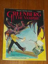 GREENBERG VAMPIRE J.M. DEMATTEIS MARK BADGER #20 MARVEL GRAPHIC NOVEL*