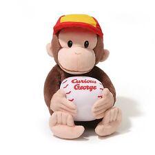 GUND Curious George Baseball 11 Inch Plush Toy