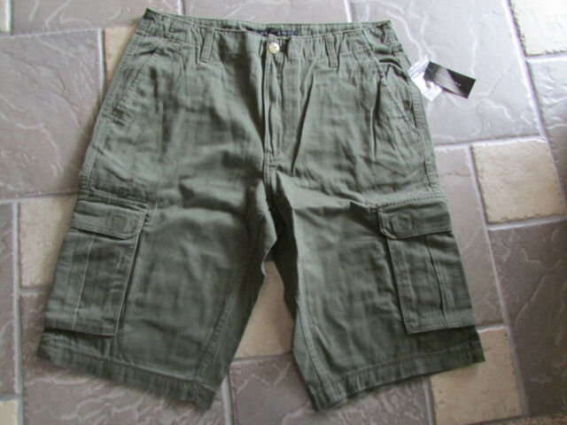 NEW SEAN JOHN CARGO SHORTS MENS 34 GREEN COTTON SW169250  FREE SHIP