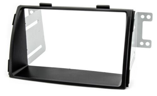 Diafragma marco autoradio para Kia Sorento XM 2009-2012 radio doble DIN negro