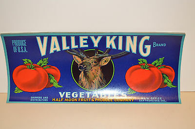 Look! Valley King Tomato Crate1930 Mint Label
