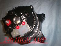 High Output 240 Amp Crown Victoria Mustang V8 4.6l 281cid Black Alternator