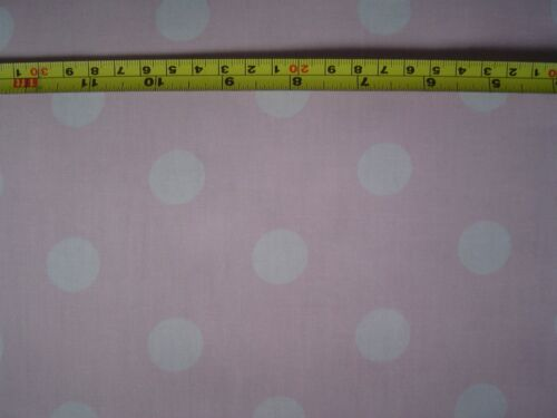 Pink with White Spots 100/% Cotton Poplin FQ//Metre