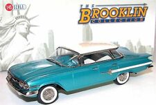 Brooklin BRK 166, 1960 Chevrolet Impala 4-Door Sport Sedan Turquoise/White  1/43