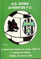 CARTOLINA SPORT A.S. ROMA - JUVENTUS F.C CAMPIONATO DI CALCIO 1990-91 C6-374