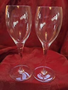 FLAWLESS-Exquisite-BACCARAT-France-Pair-ST-REMY-Glass-Crystal-CLARET-WINE