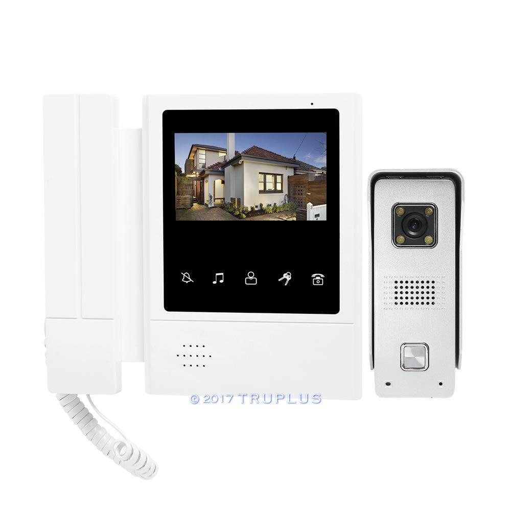 Kit de teléfono de la puerta de vídeo TFT de 4.3  con visión nocturna & Cerradura Eléctrica compatibles de Color