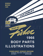 1966 Chevrolet Body Parts Illustration Book Chevelle Chev II Nova Malibu Corvair