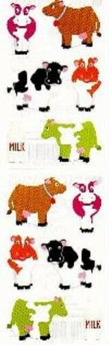 Chubby Cows Grossman/'s Stickers 4 Strips Mrs Cow with Milk Bottle