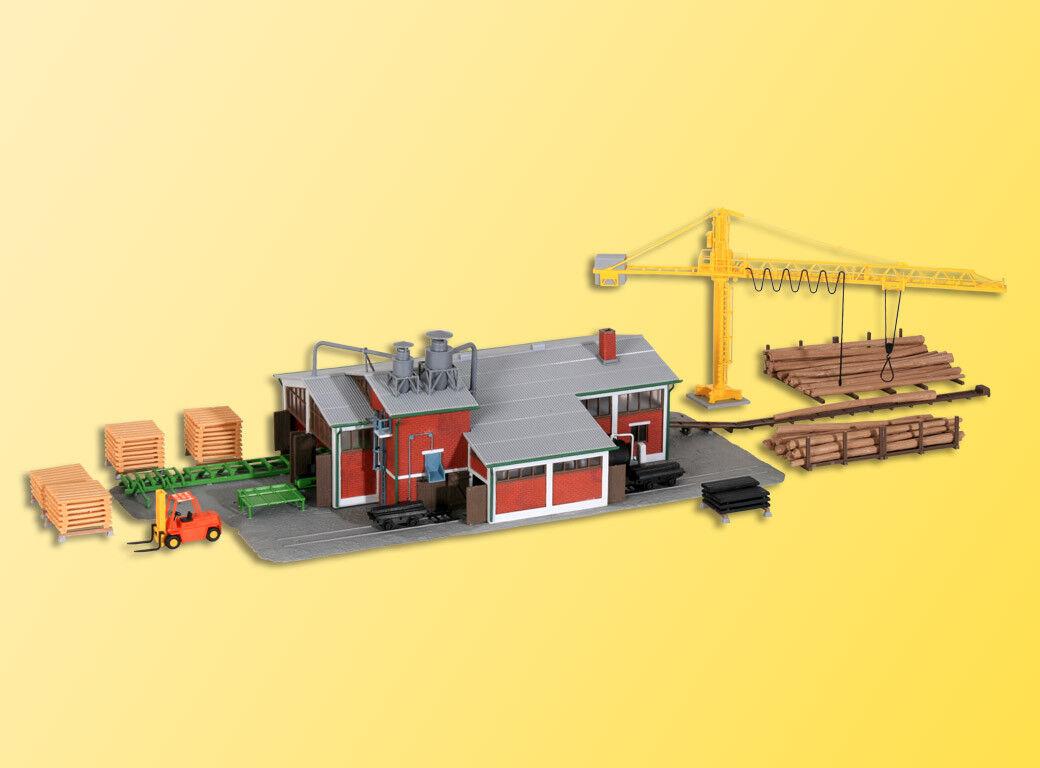 Kibri 39816 saegewerk con gru, schwellensaege e progettazione di interni, KIT, h0