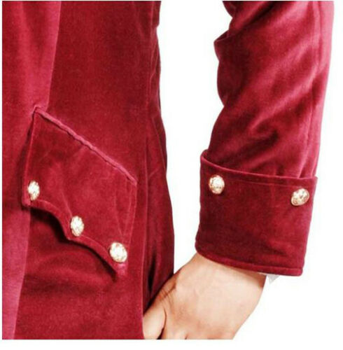 Cotton Velvet Red Wine Colored Pirate Coat from Pirate Dressing