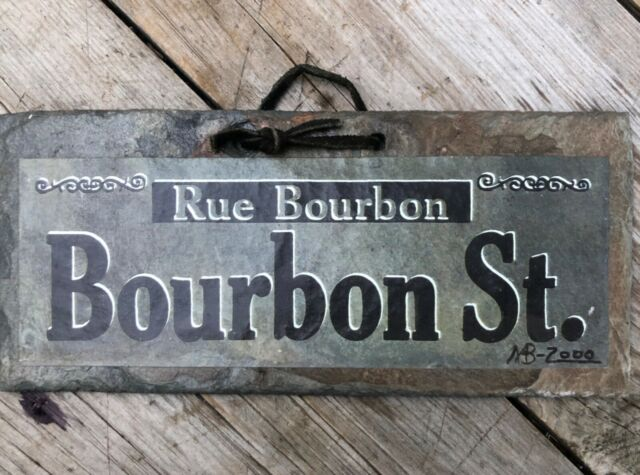 Rue Bourbon Street Roofing Slate Wall Hanging 100 200 Yrs