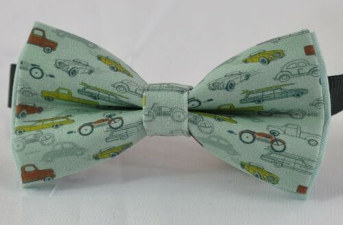 Boy Kids Baby Page Boy Blue Car Cars100/% Cotton Bow Tie Bowtie 1-6 Years Old