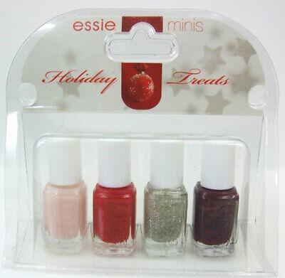 Essie Minis Holiday Treats Nail Polish Lacquer Set Swing Velvet Carnival Red 807591023179 Ebay