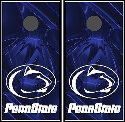 Penn State Lions Cornhole Board Wraps Skins Vinyl Laminated HIGH QUALITY!