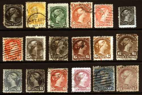 Canada #21#40 186877 Queen Heads Nice Used Lot 18 items