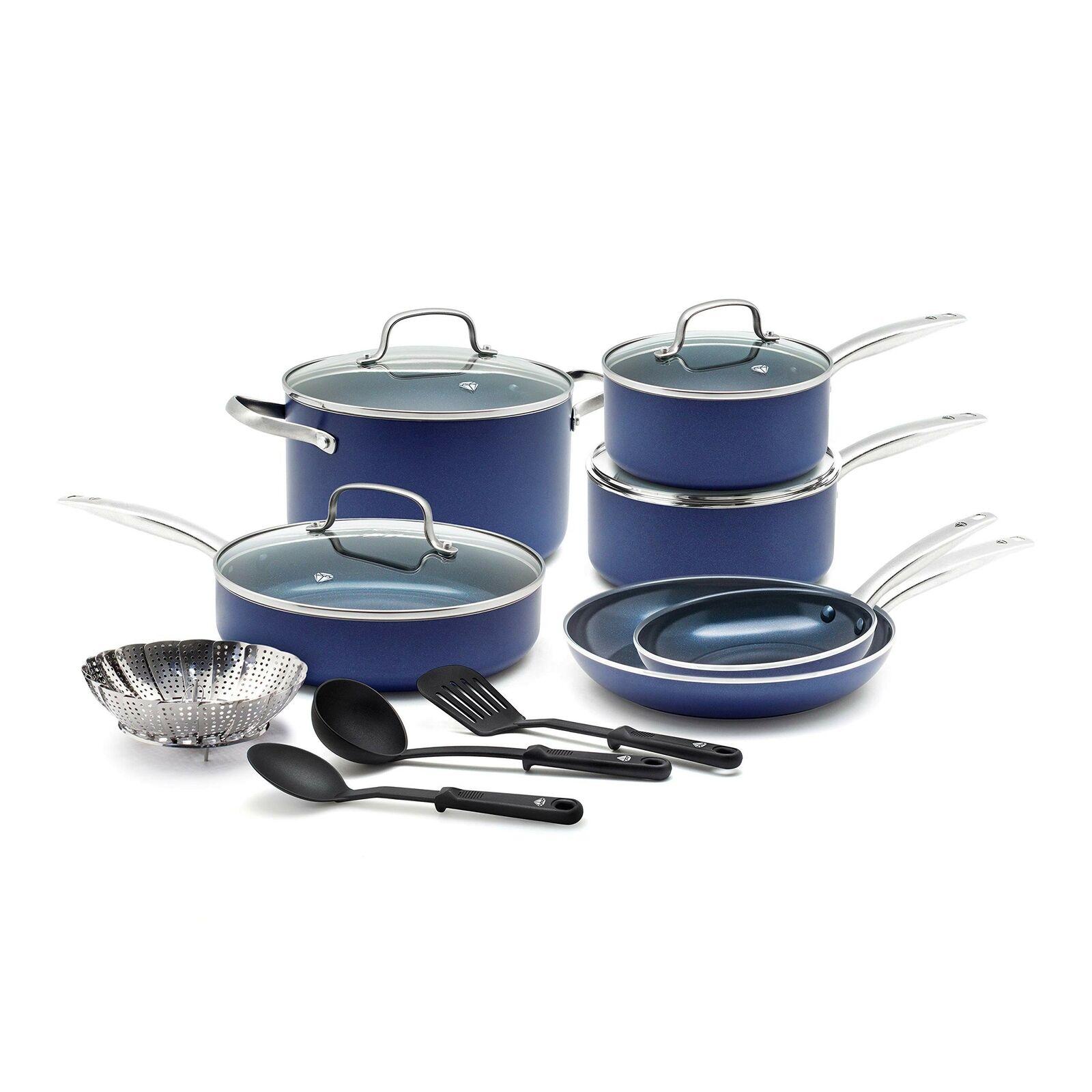 Cc001951-001 Juego De Utensilios De Cocina, 14 Piezas, Blau