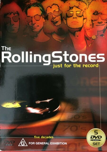 Rolling Stones Just For The Record (Aust PAL) 5 DVD - DISCS ARE LIKE NEW