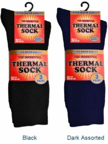 3 Mens The Essential Cotton Rich Extra Warm Quality Thermal Socks UK 6-11