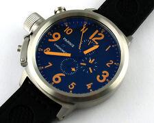 Parnis 50mm Black dial Big full Chronograph day date Lefty quartz mens Watch 57