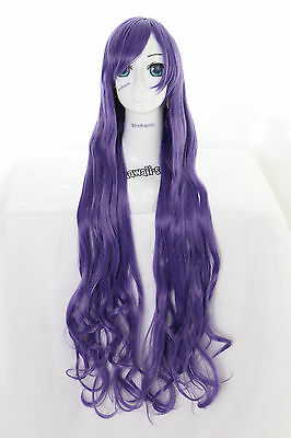 Y-20-26 Lila Purple 100cm Cosplay Wig Perücke Anime Curl Locken Haare Sparen Sie 50-70%