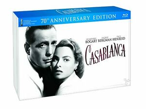 Casablanca 70TH Anniversary Limited Edition Gift Set Blu Ray/DVD 3 Disc Set New