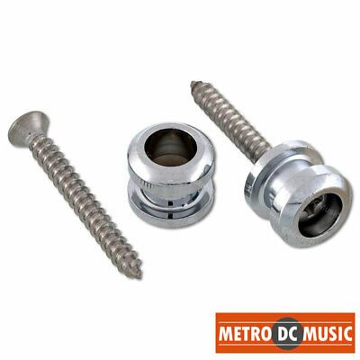 2-PACK STRAP BUTTONS NICKEL WITH SCREWS BUTTON SET REPLACEMENT