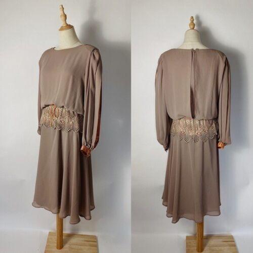 VINTAGE Ursula of Sweden Split Sleeve Lace Dress 7