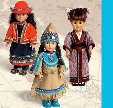 American Indian Egyptian Peru Japan Doll Clothes NEW McCalls Sewing Pattern 6670