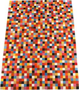 Tapis-en-cuir-de-vache-patchwork-multicolore-150-x-200-cm-peau