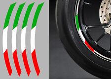 "4 X STICKERS ITALIE ROUE JANTE 17"" DUCATI APRILIA GUZZI AUTOCOLLANT MOTO (RA072)"