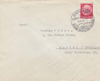 Briefumschlag 1939 EntrüCkung Hindelang Kinderheim V Kutzschenbach