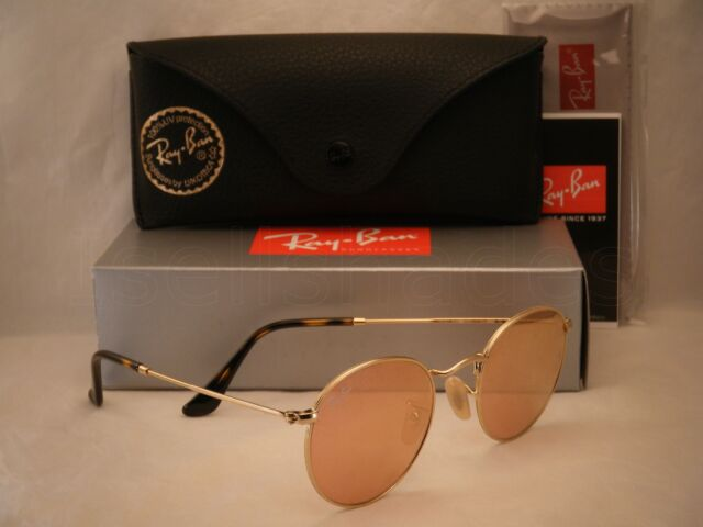 3bea99da4 Sunglasses Ray-Ban Round Metal Rb3447n 001/z2 47 Gold Copper Flash ...