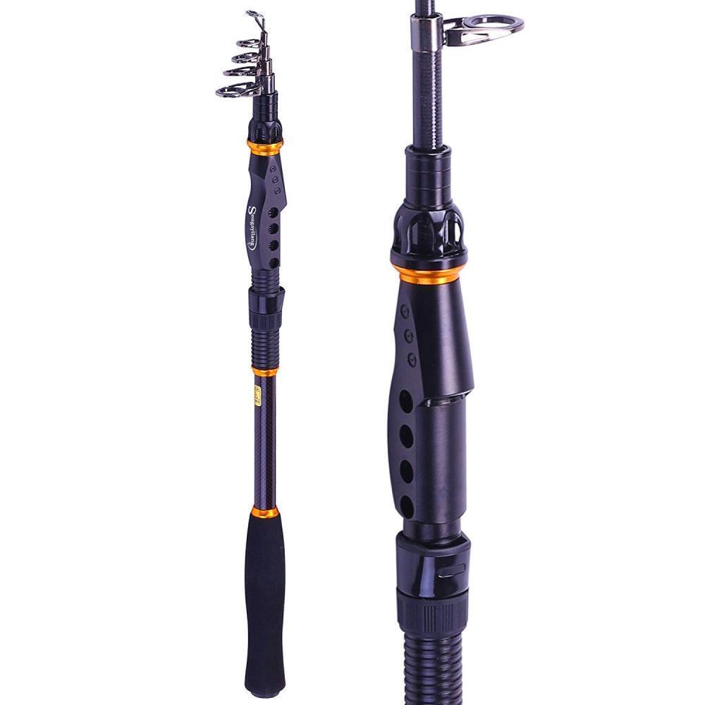 Sougayilang Fishing Rod - 24 Ton Carbon Fiber, Portable Telescopic Super...