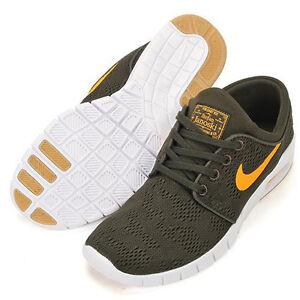 timeless design cb012 97602 Image is loading Nike-SB-Janoski-Max-in-Sequoia-Green-Gold-
