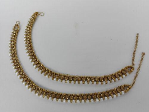 Indienne Ethnique Bracelet Bijoux Plaqué Or Bollywood pazeb Fashion Payal.