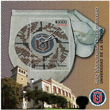 Chile 2010 Block Souvenir - Mini Sheet - Big Clock La Serena University