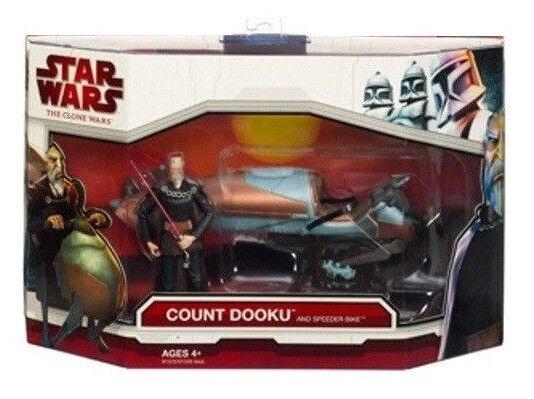 Star Wars Deluxe Speeder Bike w  Count Dooku Figure