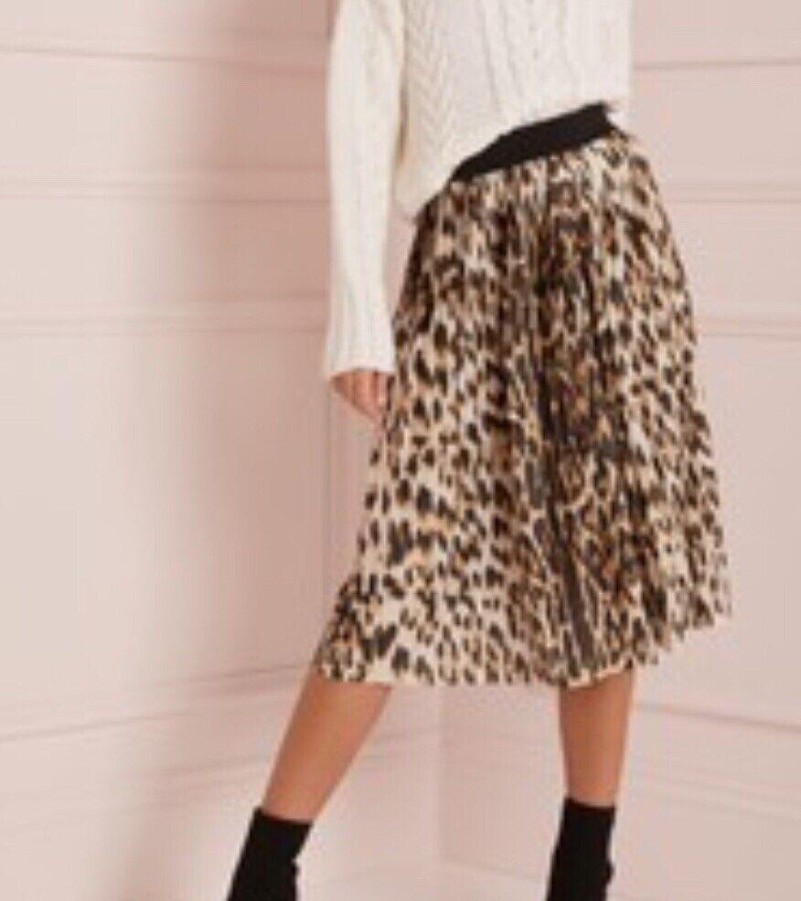 lipsy london leopard midi wrap Größe Uk 4