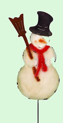 Gartenstecker Beetstecker SCHNEEMANN bunt 115 cm 961096 NEU Weihnachtsdeko