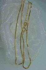 SCHLANGENKETTE 750 GOLD HALSKETTE 45,5 cm GOLDKETTE KETTE  NEU  ein must have