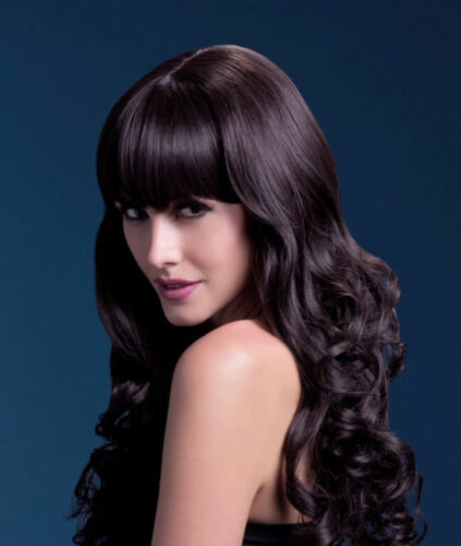 """Fever Isabelle Wig 26/"""" Long Soft Curl with Fringe Womens Fancy Dress Costume"""