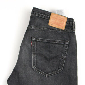 Levi-039-s-Strauss-amp-Co-Hommes-501-Jeans-Jambe-Droite-Taille-W36-L32-APZ1062