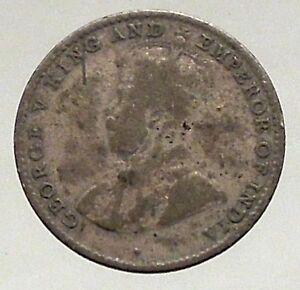 1920-CEYLON-now-SRI-LANKA-Silver-10-Cents-under-UK-King-GEORGE-V-i56866