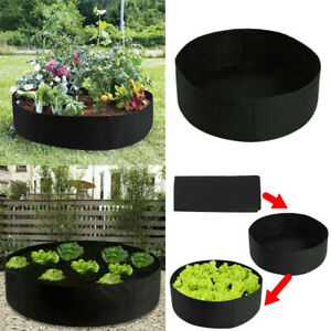 Fabric-Raised-Bed-Garden-Planting-Flower-Plant-Elevated-Vegetable-Grow-Bag