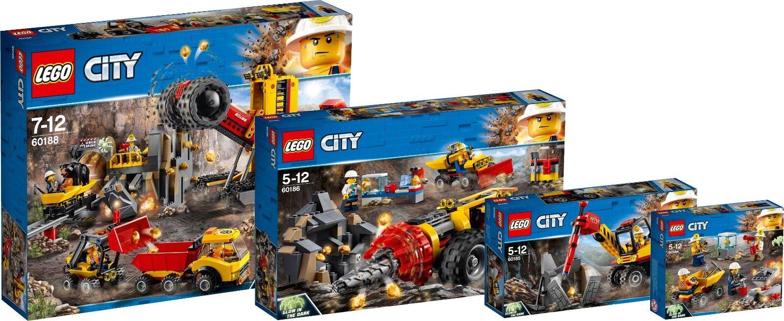 LEGO ® città Minerario MINIERA SET COMPLETO 60188  60186 60185 60184 energia Miners n2 18  edizione limitata