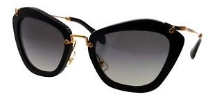 66b2f2c8ac5 NEW Miu Miu Sunglasses SMU10N 1AB3M1 Black   Grey Gradient Lens ...