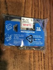New Listingbrother P Touch Tz 232 Red Print On White Label Tape 12mm 12