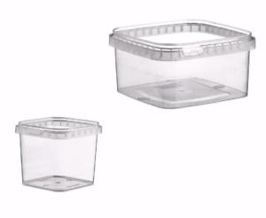 Alimentos seguros 280ml a 680ml de plástico transparente a prueba de manipulaciones tinas//Contenedores Con Tapas